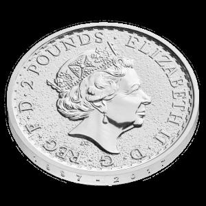 2017 Silver 1oz Britannia anniversary design edged '1997 - 2017' edge obv