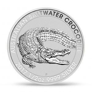 Silver Saltwater Croc Coin