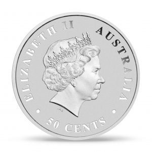 Silver Saltwater Croc Coin Front