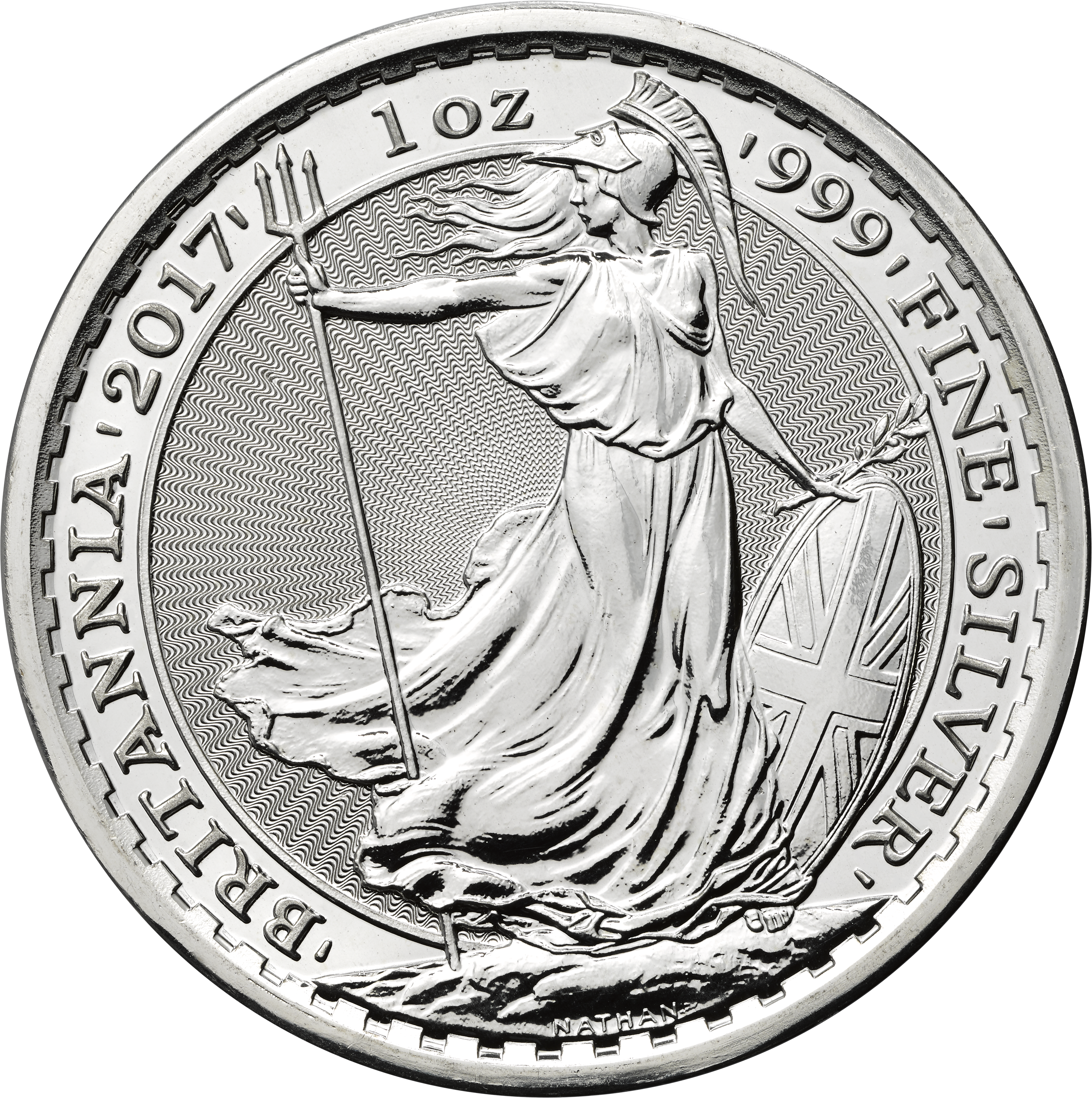 Silver 1oz 2017 Britannia edged bullion YOTR rev uks04899
